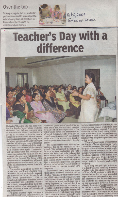 articles for teachers day Not too long ago, little girls dreamed of becoming like their role models: teachers.